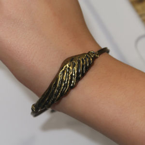 "3/$25 ** Angle Wing  bracelet charms 2.75"" across"